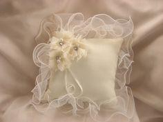 Wedding Ring Pillow Ring Bearer Pillow Classic by nanarosedesigns, $29.00  kinda looks like the flower girl dress