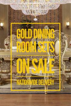 Great selection of gold dining room table sets. Different sizes, styles, and price points. Nationwide delivery, discounted pricing, outstanding small business personal customer service. Texas owned company!