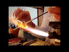 ▶ How to make a flower lampwork glass bead by Lorraine Dowdle - YouTube