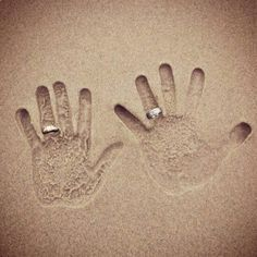 Hands in the sand :)