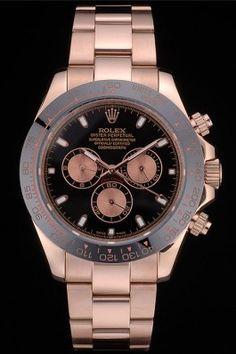 Rolex Daytona Black Ion Plated Tachymeter Rose Gold Strap Black Dial 80245