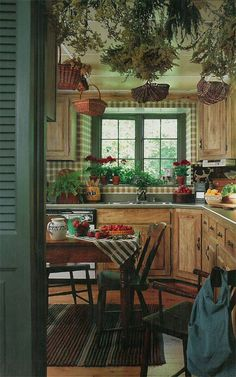 Vintage Country Living:  A  Farmhouse Kitchencountryliving