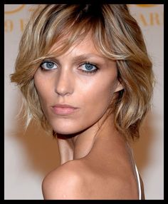 anja rubik--best blond crop cut ever?