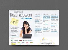 Projekt plakatu, łączony z harmonogramem imprezy (Format A2)