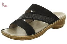 Largeur de femmes Mules 36 37 38 39 40 41 42 noir dames ara chaussures G, Damen Größen:37;Farben:schwarz