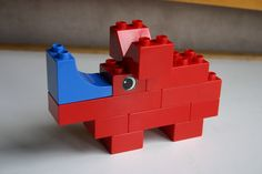 Duplo block rhinoceros
