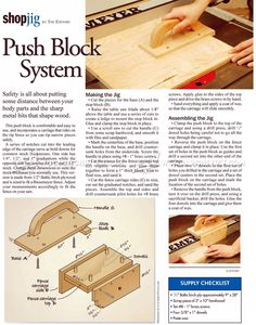 Table Saw Push Block System - Table Saw Tips, Jigs and Fixtures | WoodArchivist.com