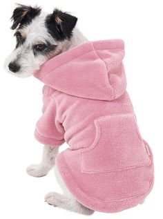 Pink Hoodie-Footie™ for Dogs from PajamaGram. $19.99 #Dogs #Pajamas…