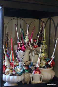 If only I could find a few dozen vintage tree toppers! (from Magpie Ethel)