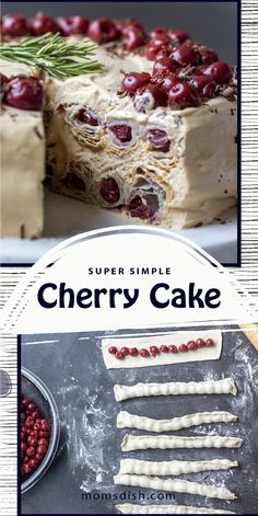 Russian Cakes, Russian Foods, Russian Recipes, Easy Cake Recipes, Best Dessert Recipes, Baking Recipes, Cherry Cake Recipe, Croatian Recipes, Caking It Up