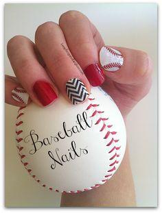 Baseball Nails #Jamberry #Giveaway #jamberrynails