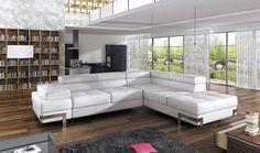 Couchgarnitur EMPORIO Sofa Eckcouch Schlaffunktion Couch Polsterecke Ecksofa
