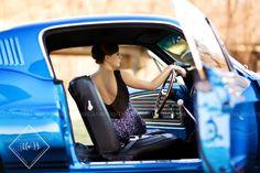 Senior Model. Senior Photography. Megan Bryant Photography. Senior Photos. 1967 Mustang.