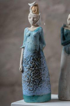 Escultura de cerámica de la serie Chicas   Etsy