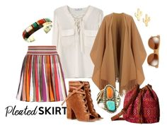 """""""Pleated Skirt in Arizona"""" by lifestyle-alisa ❤ liked on Polyvore featuring MANGO, Missoni, Gianvito Rossi, Acne Studios, CAM, Billabong, Zeal Optics and pleatedskirts"""