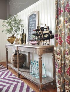 Honey We're Home: Dining Room Decor Updates // World Market Everett Foyer Table