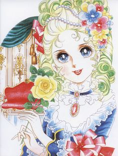 "Art of Marie Antoinette from ""Rose Of Versailles"" series by manga artist Riyoko Ikeda."