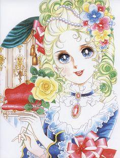 """Art of Marie Antoinette from """"Rose Of Versailles"""" series by manga artist Riyoko Ikeda."""