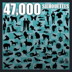 All-Silhouettes | Download Free Vector Files: Silhouettes, Outlines, Cutouts, Shapes