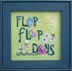 FLIP FLOP DAYS....buy button pack get chart for FREE.  A must have for flip flop lovers.