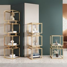 Gold Shelves, Black Shelves, Display Shelves, Gold Home Decor, Home Office Decor, Living Room Decor Gold, Black And Gold Living Room, Gold Bedroom Decor, Home Decor Trends