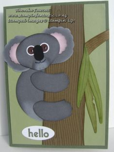 koala - to see punches used please visit my website www.stampinfantastic.co.nz