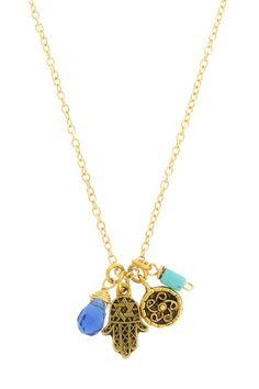 Hamsa Cluster Necklace by LEILA on @HauteLook