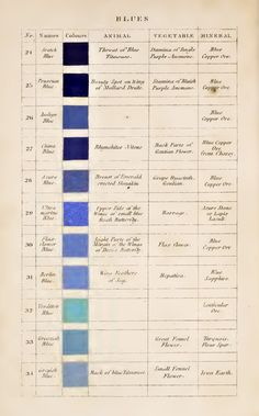 Eleven Kinds of Blue: Werner's Pioneering 19th-Century Nomenclature of the Colors, Beloved by Darwin – Brain Pickings Maggie Nelson, Art Articles, Blue Aesthetic, Color Theory, Art Techniques, Kind Of Blue, Love Blue, Colour Pallete, Color Azul