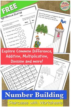 Hands-on math that give students strategies for solving math problems.  Explores addition, common difference (subtraction), multiplication and more!