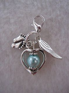 Baby #memorial #charm - baby loss / miscarriage / memory box keepsake #heart ang, View more on the LINK: http://www.zeppy.io/product/gb/2/171062354920/
