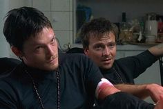 Norman Reedus and Sean Patrick Flanery The Boondock Saints Movie, Walking Dead Pictures, Connor Murphy, Sean Patrick Flanery, Murphy Macmanus, Daryl Dixon, Character Aesthetic, Music Tv, Norman Reedus