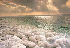 The Dead Sea (Israel, Jordan, Palestine)  The Dead Sea is a salt lake between the West Bank/Palestine/Israel to the west and Jordan to the east. It is the saltiest sea on the planet which contains no animal or plant life (hence the dead) but an amazing sight to be seen.