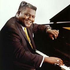 """'Blueberry Hill"""" 1940s - Fats Domino (aka Antoine Domino) (1928 - ) written by Vincent Rose, the lyrics by Al Lewis - Lyrics for the rock n' roll version by Fats Domino"""
