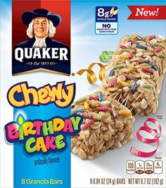 QUAKER CHEWY GRANOLA BARS birthday cake granola bars 10oz -- Insider's special offer that you can't miss : baking desserts recipes