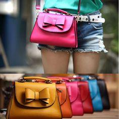 Fashion Korean Lady Women Bow Handbag Purse Totes Satchel HOBO Bag