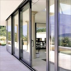 Sliding doors stack onto a fixed end panel. AluminiumSlidingDoor.jpg 450×450 pixels