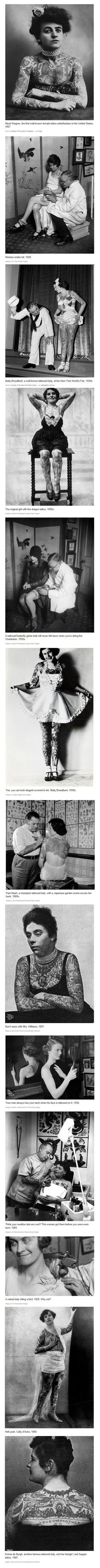 Totally Cool Vintage Photos of Women with Tattoos | Mommy Has A Potty MouthMommy Has A Potty Mouth