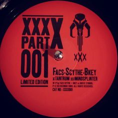 #nowspinning Facs  Scythe  BKey - XXX-X Part 001. XXX: XXXX001 (2003). Oh shit. I'm listening to Tantrum. Seriously dark piece of music. That silent hill style guitar track lays waste to a growling grumbling gut wrenching bassline. Income the rolling amen and off we go. To some deserted ghost house with a locked basement that needs to be entered during the track breakdown. When it drops again it's carnage. What a tune. What a 12. Like to take it dark sometimes. #dnb #drumandbass #drumnbass…