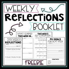Weekly Reflections Booklet was created for students to use reflect on their week, and share their learning with their parents.