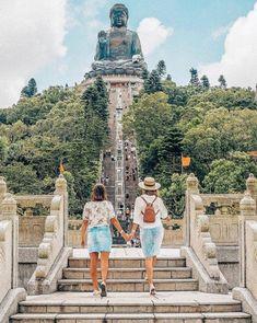 Hong Kong - Big Buddha - Travel photos - travel Photography - Girls who Travel - backwards Photos trendy Travel Photos China Travel Destinations Hongkong Outfit Travel, Taiwan Travel, Singapore Travel, China Travel, Singapore Photos, Malaysia Travel, Norway Travel, Philippines Travel, Ireland Travel