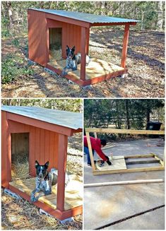 The 45 easy DIY Easy Dog House Plans & Ideas that are all fabulous and fantastic and will definitely please all the dogs! Getting a useful and featured idea of DIY dog house plans would not that easy before, once again a big thanks to DIY projects! Pallet Dog House, Build A Dog House, Dog House Plans, Dog House With Porch, Dog House Outside, House Dog, Insulated Dog House, Outside Dogs, Diy Dog Crate