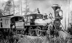Steam locomotive built in the 1870's by National Locomotive Works for the Orange Belt Railway