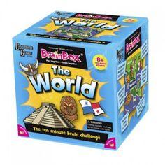 """¿Sabes dónde está Machu Pichu ? ¿O qué ave neozelandeses es llamado """"después""""? BrainBox Mundial con 71 bellamente ilustrados tarjetas que muestran lo mejor que este mundo tiene para ofrecer, y algo más!  A partir de 8 años."""