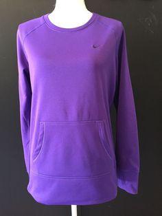 Womens Nike Therma Fit Stay Warm Sweatshirt Purple Size Medium #Nike #SweatshirtCrew