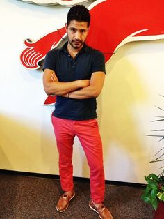 Add a pop of color to perk up your summer outfit -- menswear summer style