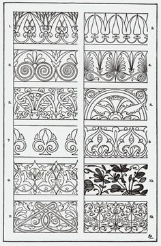 """From, """"A Handbook of Ornament"""". 1898 by Franz Sales Meyer.:"""