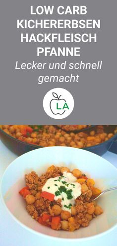 Eine leckere Kichererbsen Hackfleisch Pfanne, die Low Carb ist und sich perfekt … A delicious chickpea minced meat pan that is low carb and perfect for losing weight. Here you will find the healthy recipe and many helpful tips for your diet. Meat Recipes, Low Carb Recipes, Healthy Recipes, Healthy Nutrition, Healthy Eating, Chickpeas Nutrition, Carne Picada, Mince Meat, Low Carb Lunch