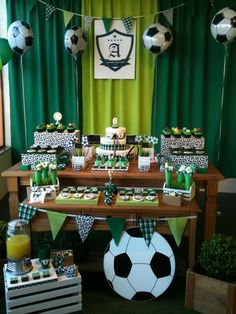 Soccer Birthday Parties, Football Birthday, Soccer Party, Baby Shower Decorations For Boys, Birthday Decorations, Soccer Baby Showers, Soccer Decor, Soccer Banquet, Ninja Party