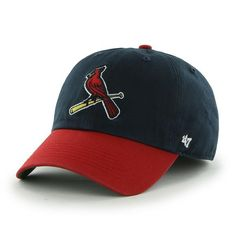 592ced4e0fdff St. Louis Cardinals LARGE 47 Brand Navy Red Franchise Fitted Hat