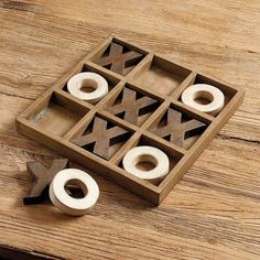 Tic Tac Toe Game Tick-tack-toe Board from Ballard Designs. Might be able to DIY this board. Perfect to have out in a living area to promote interaction and keep people off their devices. Easy Woodworking Projects, Popular Woodworking, Woodworking Furniture, Diy Wood Projects, Woodworking For Kids, Woodworking Plans, Wood Crafts, Wood Furniture, Woodworking Classes